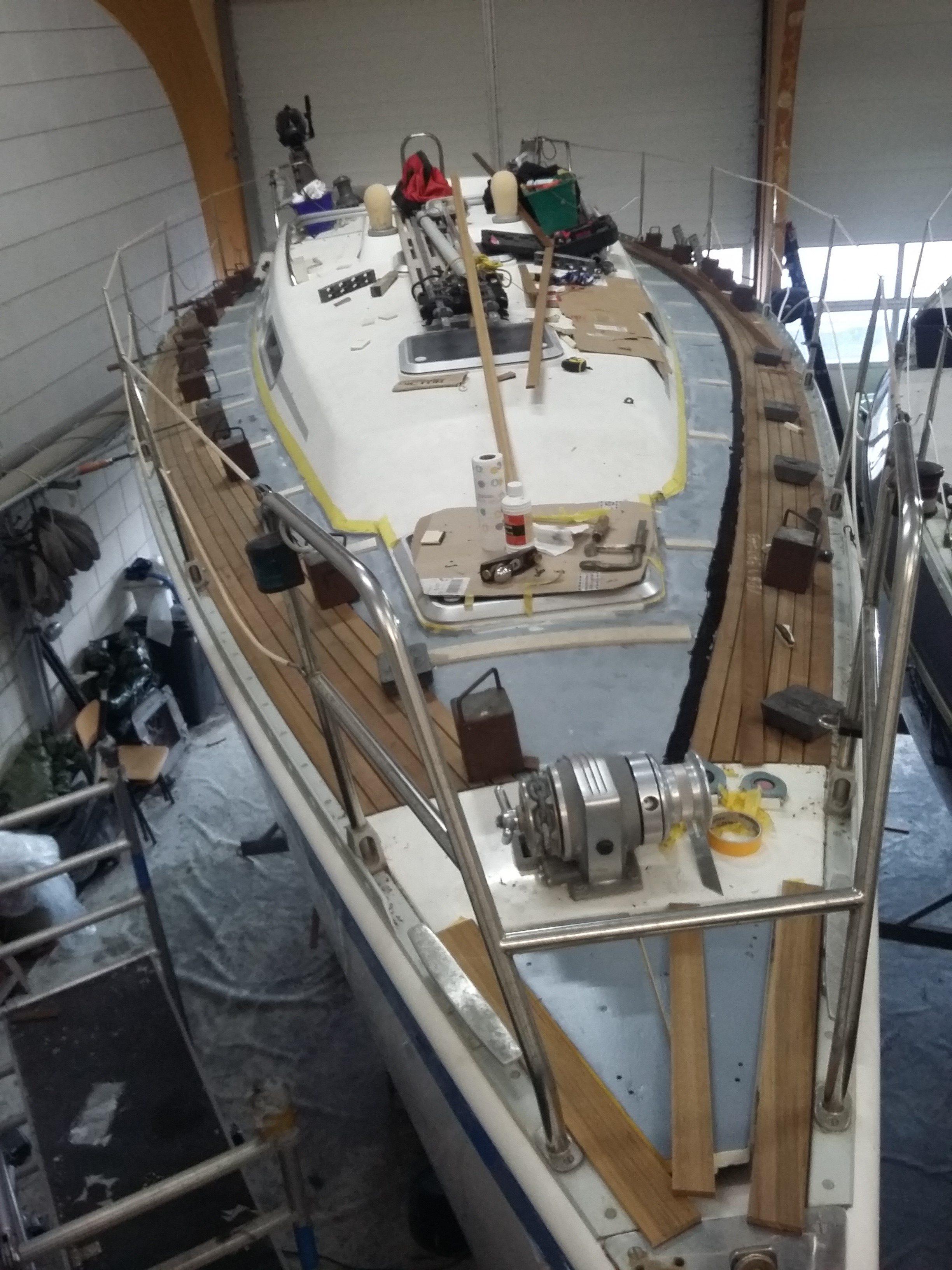 Opbouw van het nieuwe dek